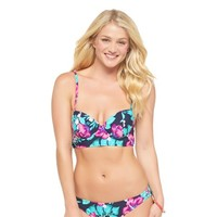 Midi Bikini top Navy Tropical Print - Xhilaration