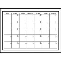 Brewster Wall Pops WPE94575 Peel & Stick White Board with Marker Monthly Calendar