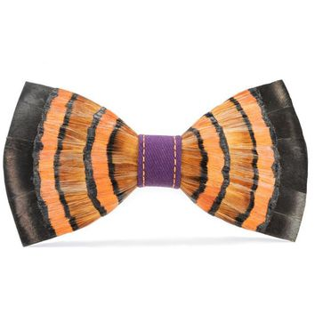 Brackish, Howard's Flock 2.0 Bow Tie, Pheasant Feathers