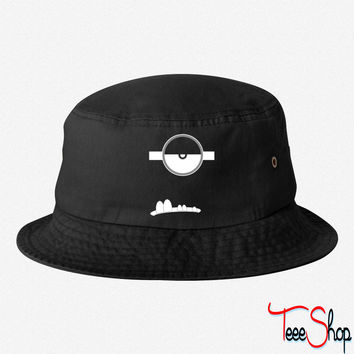 Evil Minion Face bucket hat