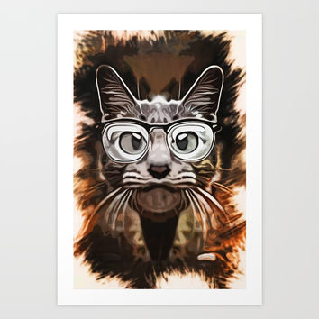 Cat Curious Art Print by naumovski