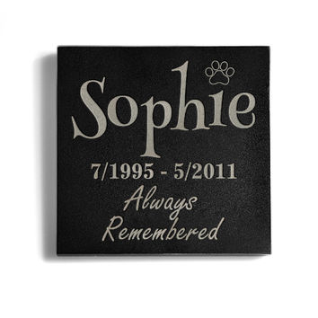 Customizable Always Remembered Memorial Pet Stone