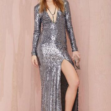 Nasty Gal Hustle Sequin Dress