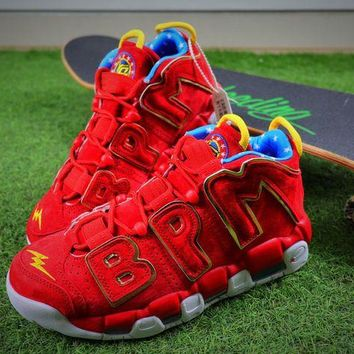 DCC3W Nike Air More Uptempo QS Doernbecher Basketball Shoes Red Sneaker