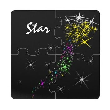 Christmas Star Puzzle Coaster
