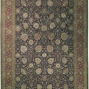 Traditional Indian Finest Quality New High End Wool Rug 10x14 Black Rug