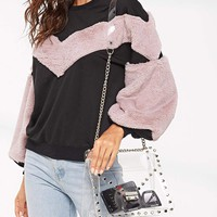 Clear Studded Chain Bag