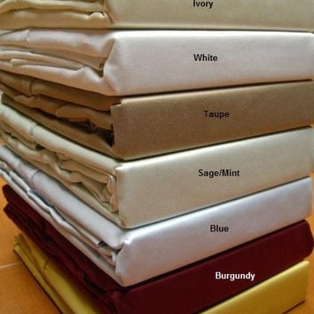 Full Solid 600 Thread count 100% Egyptian cotton Sheet sets
