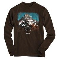 Kerruso Faith Can Move Mountains Unisex Christian Cherished Bright Long Sleeve T Shirt