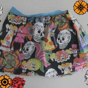 Sugar Skull Baby Girl Day Of The Dead Skirt