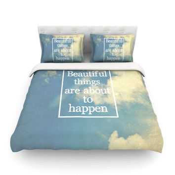 "Rachel Burbee ""Beautiful Things"" Sky Clouds Featherweight Duvet Cover"