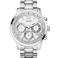 Guess Ladies Classic Sport Silver-Tone Chronograph Watch