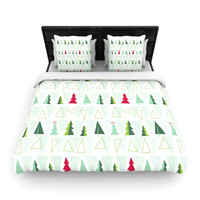 "Allison Beilke ""Pining for Christmas"" Christmas Holiday Woven Duvet Cover"