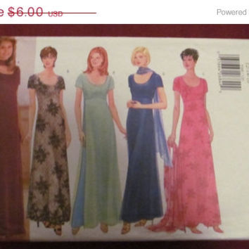 SALE Uncut Butterick Sewing Pattern, 5368! Size 12-14-16 Medium/Large Women's/Misses, Formal/Casual long Evening Dresses/Prom/Bridesmaid/Spr