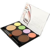 1pc City Color Contour & Corrector Cream Palette - Corrector/Contour/Bronze/Highlight #F0025