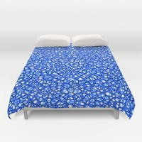 staklo (blues) Duvet Cover by Trebam