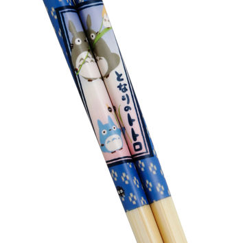 Studio Ghibli My Neighbor Totoro Blue Bamboo Chopsticks