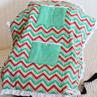 Carseat Cooler for Infants, Baby, and Toddler, Pink, Green, Chevron, Ruffle