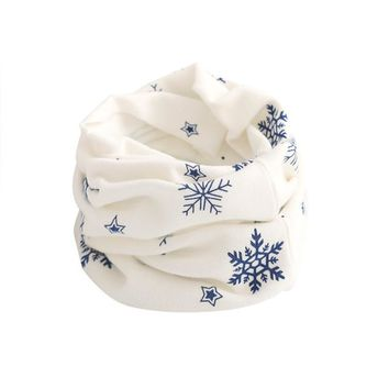 Best Quality Kid Scarf Snow flake Pattern Stitching O-ring Woolen Baby Scarf Neck Warmer fantastic designer scarf echarpe