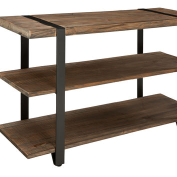 Foxford Reclaimed Wood and Metal Console Table / TV Stand