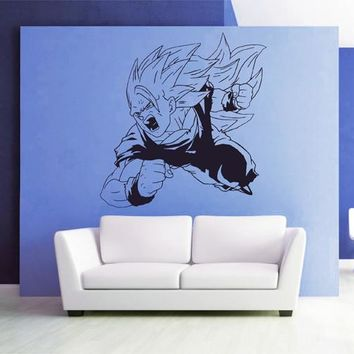 ik2646 Wall Decal Sticker skier goku dragon ball z game character living children's bedroom