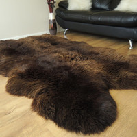 Wonderful Luxury Genuine Natural  Choco Brown Quad by MILABERT