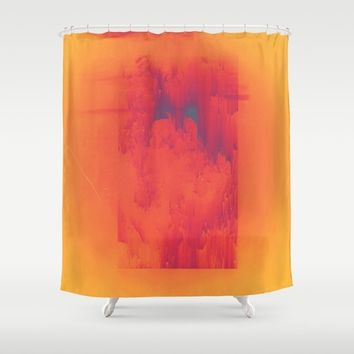 Body Heat Shower Curtain by DuckyB