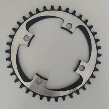 TRUYOU Round Narrow Wide Chain Ring 34T/36T/38T/40T/42T 104 BCD MTB Chainring Bike Crankset Tooth Plate Chainwheel 10/11 Speed