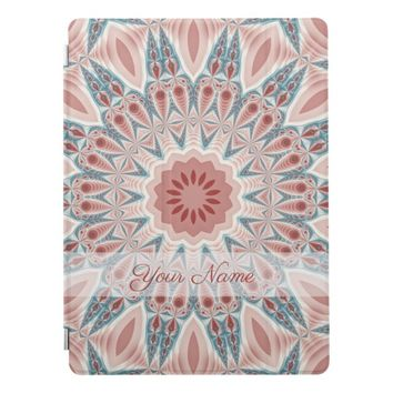 Striking Modern Kaleidoscope Mandala Fractal Name iPad Pro Cover