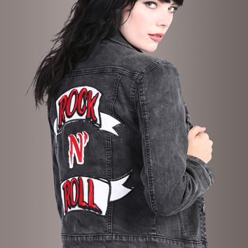 Rock n Roll Patch Denim Jacket