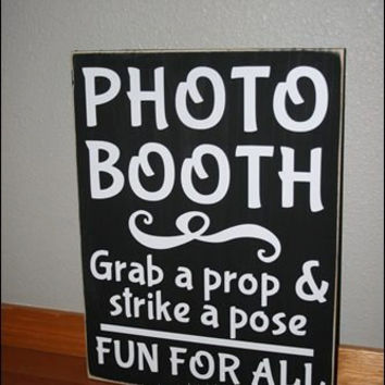 "12x16"" Photo Booth Wood Sign"