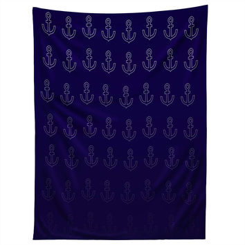 Leah Flores Anchor Pattern Tapestry