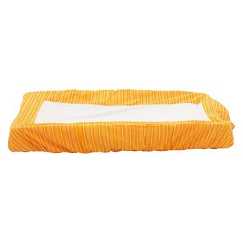 Orange striped change pad cover