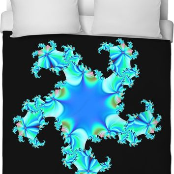 ROB Blue Ninja Star Duvet Cover