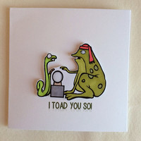 Thinking Of You Card, Special Occasion Card, I Toad You So card Card, Funny Card