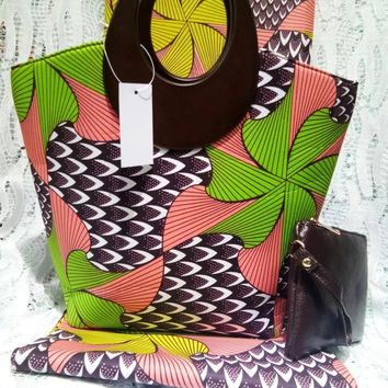 Beautiful women bags ankara african wax print fabric nigerian handbags and purse high quality printed fabric 6yard/lotDB-