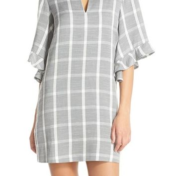 BCBGMAXAZRIA 'Tati' Windowpane Plaid Shift Dress | Nordstrom