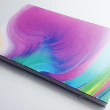 Rainbow marble swirled journal with 80 pages 5 1/2 X 8 1/2