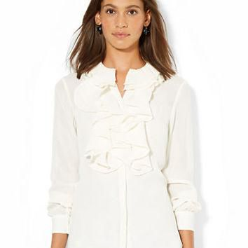 Lauren Ralph Lauren Ruffled Long Sleeved Blouse