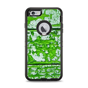 The Green Grunge Wood Apple iPhone 6 Plus Otterbox Defender Case Skin Set