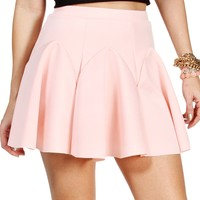 Sale-blush Pleated Skater Skirt