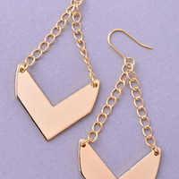 Striking Chevron Earrings