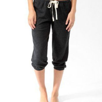French Terry Drawstring PJ Capris