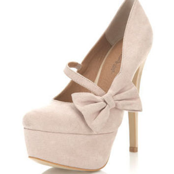 Saffi Cream Closed Toe Court - Miss Selfridge US