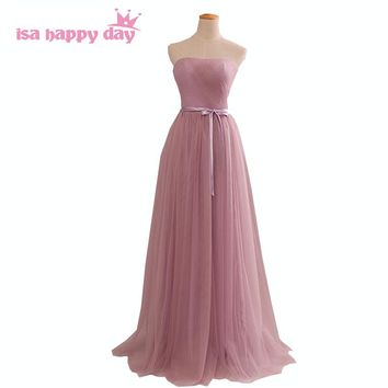 2018 hot sale new arrival formal modern sweetheart women blush bridesmaid womens floor-length bride maid dresses long H2855