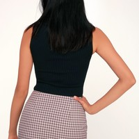 Plaid Attitude Pink Plaid Mini Skirt
