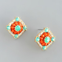 Tangerine Chapel Earrings