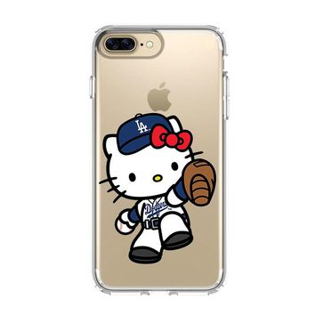 HELLO KITTY LA DODGERS iPhone and Samsung Galaxy Clear Case