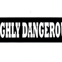 Motorcycle Helmet Sticker - Highly Dangerous Helmet Sticker