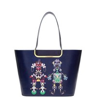 Mary Katrantzou Navy Marinela Tote - ShopBAZAAR